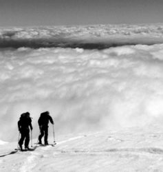 Chilean volcanoes guided ski trips with Andes Mountain Guides