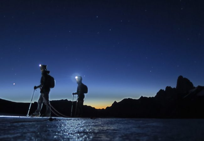 Starting a new day on the Ice Cap Expedition in PAtagonia with Andes Mountain Guides.